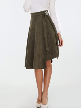 Ericdress Asymmetric High-Waist A-Line Skirt