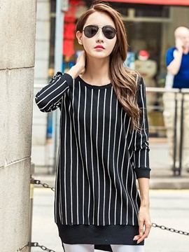 Ericdress Loose Stripped Knitwear