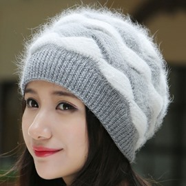 Ericdress Brimless Color Block Knitted Hat for Women