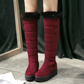 Ericdress Pretty Girl Furry Thigh High Boots