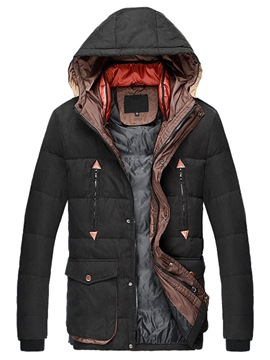 Ericdress Hood Thicken Warm Winter Style Men's Coat