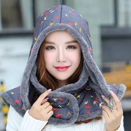 Ericdress Thicken Warm Printed Cotton Hat