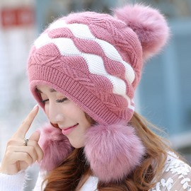 Ericdress Double Layers Thicken Knitted Hat