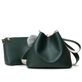 Ericdress Korean Color Block Bucket Handbags(2 Bags)