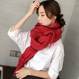 Ericdress Pure Color Imitation Cashmere Oversized Scarf