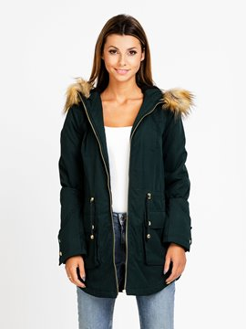 Ericdress Loose Lace-Up Casual Coat
