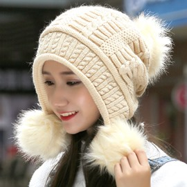 Ericdress Winter Rabbit Hair Knitted Cap