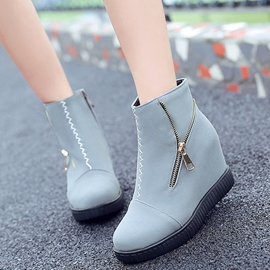 Ericdress Pretty Side Zipper Elevator Heel Boots