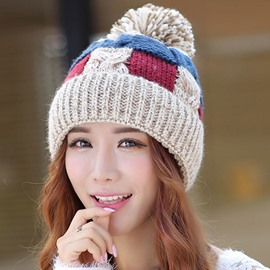 Ericdress Colorful Geometry Knitted Hat for Women