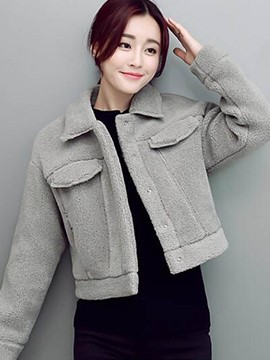 Ericdress Loose Solid Color Casual Jacket