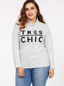 Ericdress Casual Loose Lace-Up Plus Size Hoodie