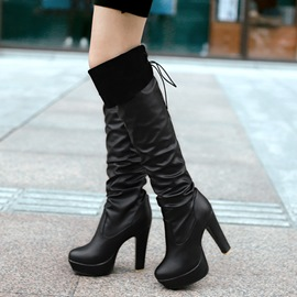 Ericdress PU Platform Chunky Heel Over The Knee Boots