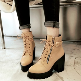 Ericdress Chic PU Platform Ankle Boots