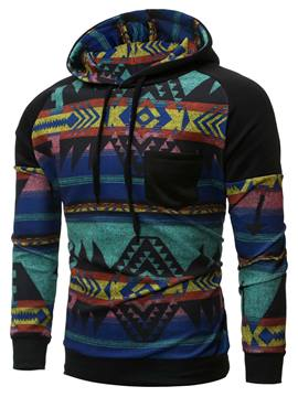 Ericdress Unique Vintage Pattern Casual Pullover Men's Hoodie