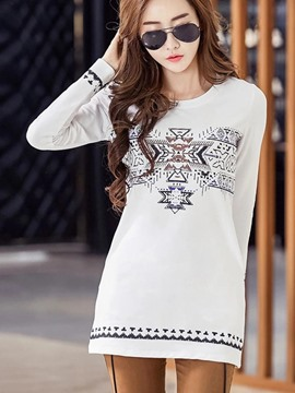 Ericdress Geometric Pattern Korean Style T-Shirt
