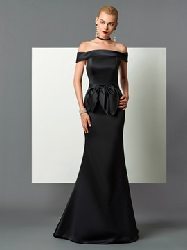 Ericdress Mermaid Off The Shoulder Bowknot Waist Evening Dress