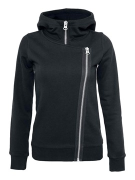 Ericdress Slim Pullover Double Zipper Hoodie