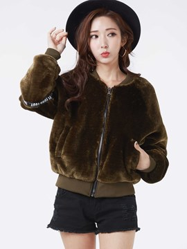 Ericdress Animal Embroideried Jacket
