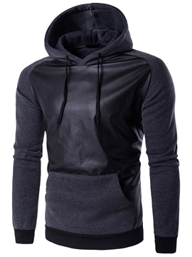 Ericdress Cool Patchwork Pullover Casual Men's Hoodie