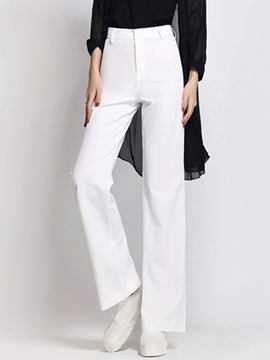 Ericdress Solid Color Loose Full Length Pants