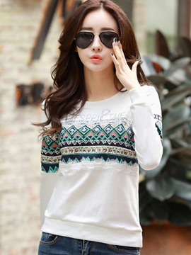 Ericdress Lace Patchwork Casual T-Shirt