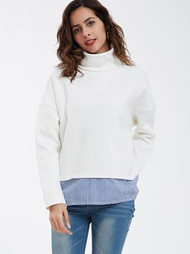 Ericdress Casual Plain Pullover Turtleneck Hoodie