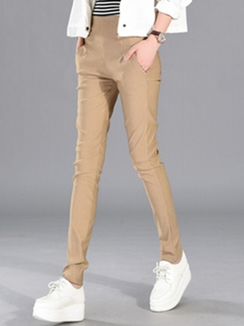 Ericdress Solid Color Slim Elastics Pencil Pants