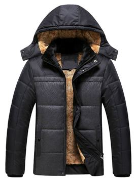 Ericdress Zip with Hood Thicken Warm Men's Winter Coat