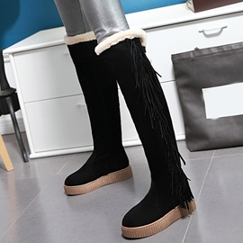 Ericdress Amazing Tassels Thigh High Boots