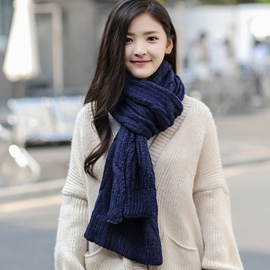 Ericdress Classic Pure Color Twist Knitted Scarf
