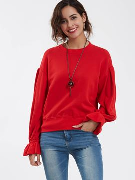 Ericdress Pullover Round Neck Flare Sleeves Hoodie