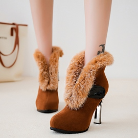 Ericdress Graceful Faux Fur High Heel Boots