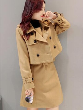 Ericdress Notched Lapel Double-Breasted Jacket Dress Suit
