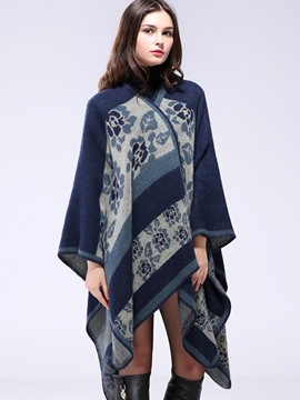 Ericdress Stripped Printed Cape