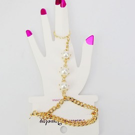 Ericdress Pearl Inlaid Golden Chain Bracelet