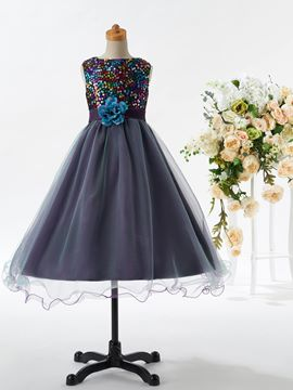 Ericdress Cute Jewel Sequins Ball Gown Flower Girl Party Dress