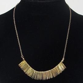 Ericdress Golden Needle Shaped Pendant Necklace