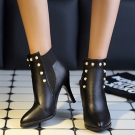 Ericdress Sexy Rivets Point Toe High Heel Boots