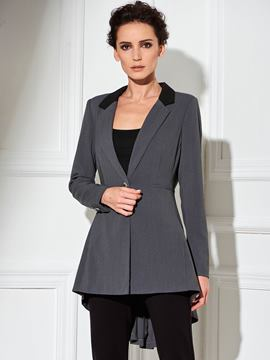 Ericdress Color Block Pleated Slim Blazer