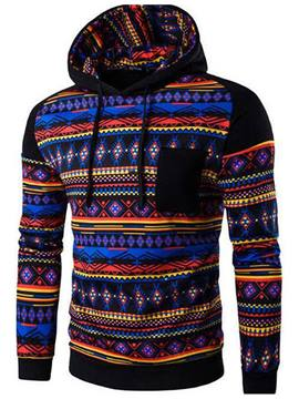 Ericdress Unique Etnic Style Casual Patchwork Men's Hoodie