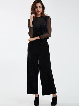 Ericdress Solid Color Slim Full Length Jumpsuits Pants