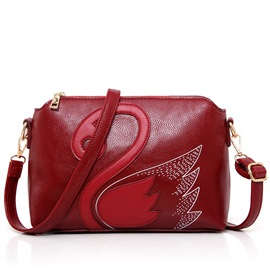 Ericdress Ethnic Swan Print Crossbody Bag
