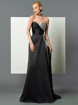 Ericdress A Line Beaded Sweetheart Court Train Evening Dress