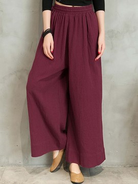 Ericdress Solid Color Pleated Elastics Loose Pants