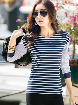 Ericdress Fine Stripe Causual T-Shirt