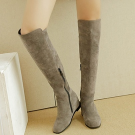 Ericdress Suede Elevator Heel Over The Knee Boots