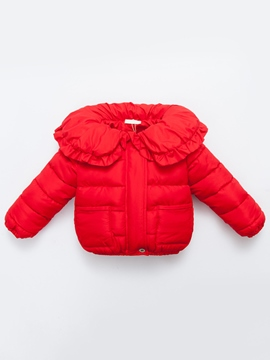 Ericdress Doll Collar Solid Color Girls Cotton-padded Coat