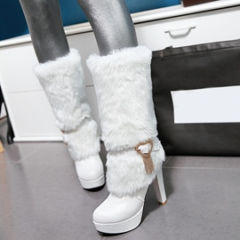 Ericdress Charming PU Platform High Heel Boots