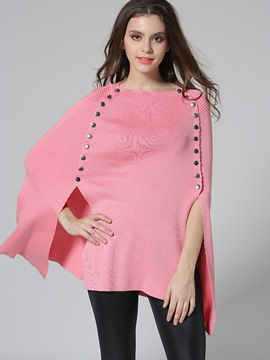 Ericdress Solid Color Rivet Loose Cape