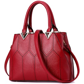 Ericdress Simple Geometric Patchwork Handbag